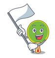 with flag ping pong racket mascot cartoon vector image