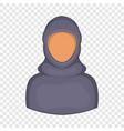 woman arab icon cartoon style vector image vector image