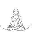 woman doing exercise yoga lotus pose vector image vector image