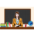 Young teacher woman on board vector image vector image