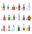 Drinks and beverages icon set vector image