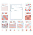 linen and bedding duvet textile patterns vector image