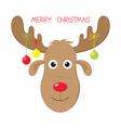 Christmas moose vector image