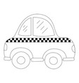 dotted shape taxi car vehicle to transport service vector image