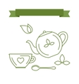 Icons and symbols with the theme of tea vector image