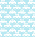 Blue baby boy seamless background with cartoon vector image
