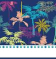 pompom border trim on dark blue colorful vector image