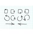 Set of hand-drawn arrow doodles vector image