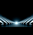 3d luxury futuristic spotlights way out background vector image