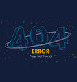 404 error page not found line space graphic vector image vector image