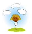 a girl with speech balloon vector image vector image
