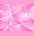 abstract pink geometric background from triangles vector image vector image