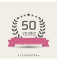 anniversary sign vector image vector image