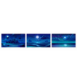 backgrounds with night sea landscape vector image vector image