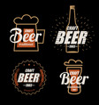 beer logo template collection set of emblems on vector image vector image