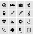 black medical icon set vector image vector image