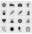 black medical icon set vector image
