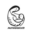 black outline sketchy mother and child symbol vector image