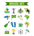 brazilian carnival icons flat style brazil vector image