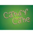 Candy Cane Words2 vector image