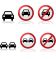Car signs vector image