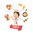 Chef Cartoon For Kids vector image