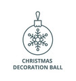 christmas decoration ball line icon vector image vector image