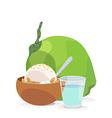 coconut milk ice cream vector image vector image