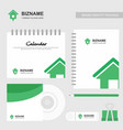 company design brochure with stationary items vector image