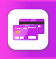 credit card icon flat design bank card isolated vector image