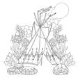cute fairy wigwam doodle vector image