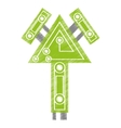 drawing computer circuit arrow electronic vector image vector image
