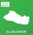 el salvador map icon business concept el salvador vector image vector image