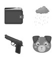 finances weapon and other monochrome icon in vector image