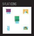 flat icon window set of clean glass frame vector image vector image