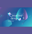 fluid shapes composition trendy gradient poster vector image vector image