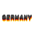 Germany lettering Text of German flag Emblem of vector image