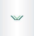 green letter w and v logo vector image vector image