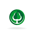 Green oak tree logo template vector image vector image
