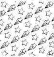 grunge nice shooting star art background vector image vector image
