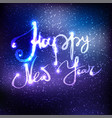 happy new year and merry christmas lettering on vector image vector image