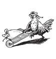 hen vintage vector image vector image