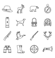 Hunting icons set outline style vector image vector image