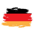 isolated german flag vector image vector image
