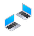 isometric laptop with blank screen isolated on vector image vector image