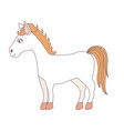 light colors of cartoon horse standing vector image