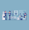 lunch break in police station vector image