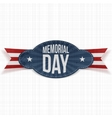 Memorial Day festive Badge with Ribbon vector image vector image