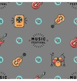 Music seamless pattern Rock festival design vector image vector image