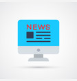 news trendy social symbol trendy colored vector image vector image